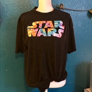 Tie dye Star Wars black T-shirt